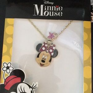 New Disney Minnie Mouse Pendant with Star Charm